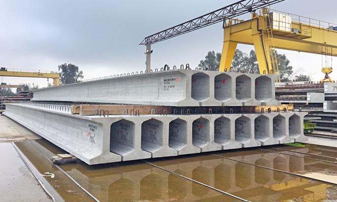 Pacadar suministra vigas prefabricadas del metro de Málaga